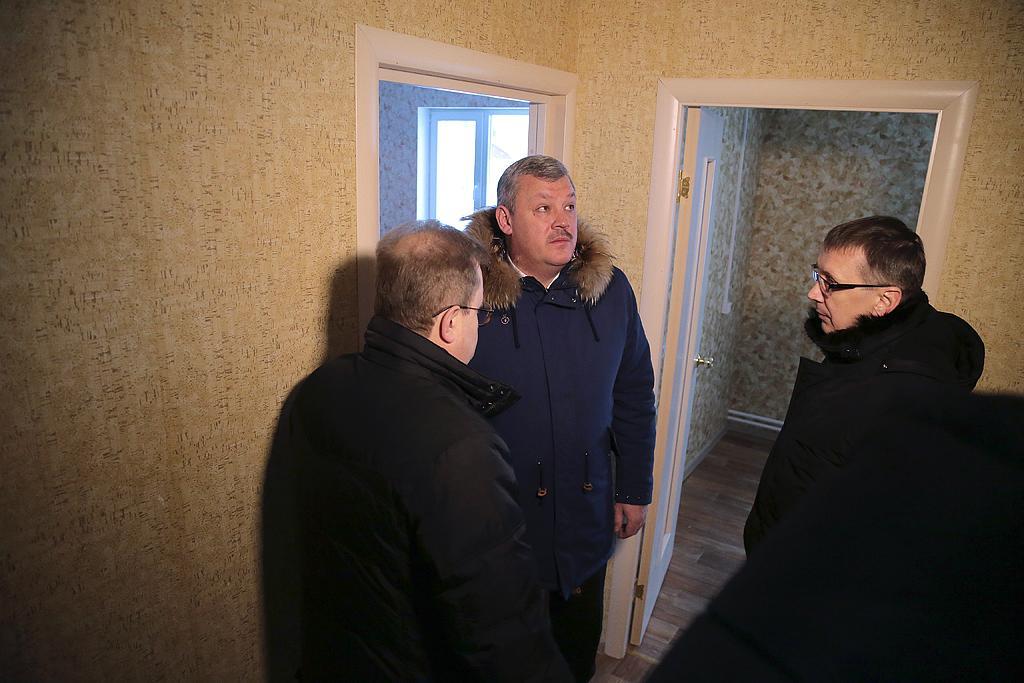 Гапликов проинспектировал строительство дома Выльгорт