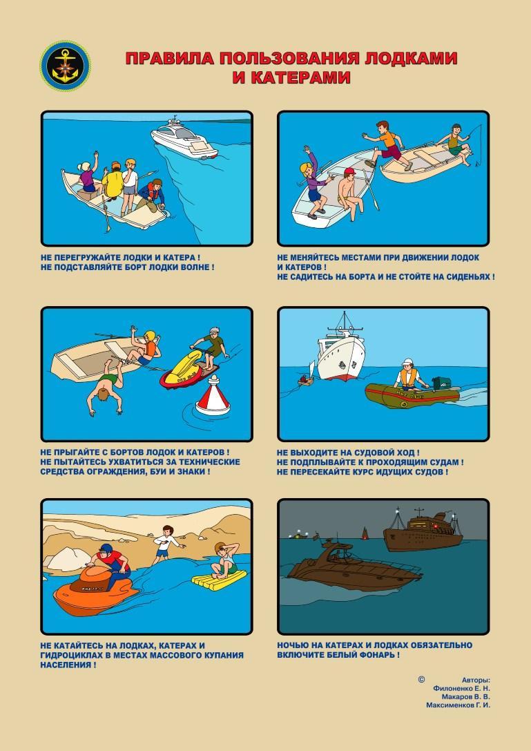 Правила пользования лодками и катерами 1