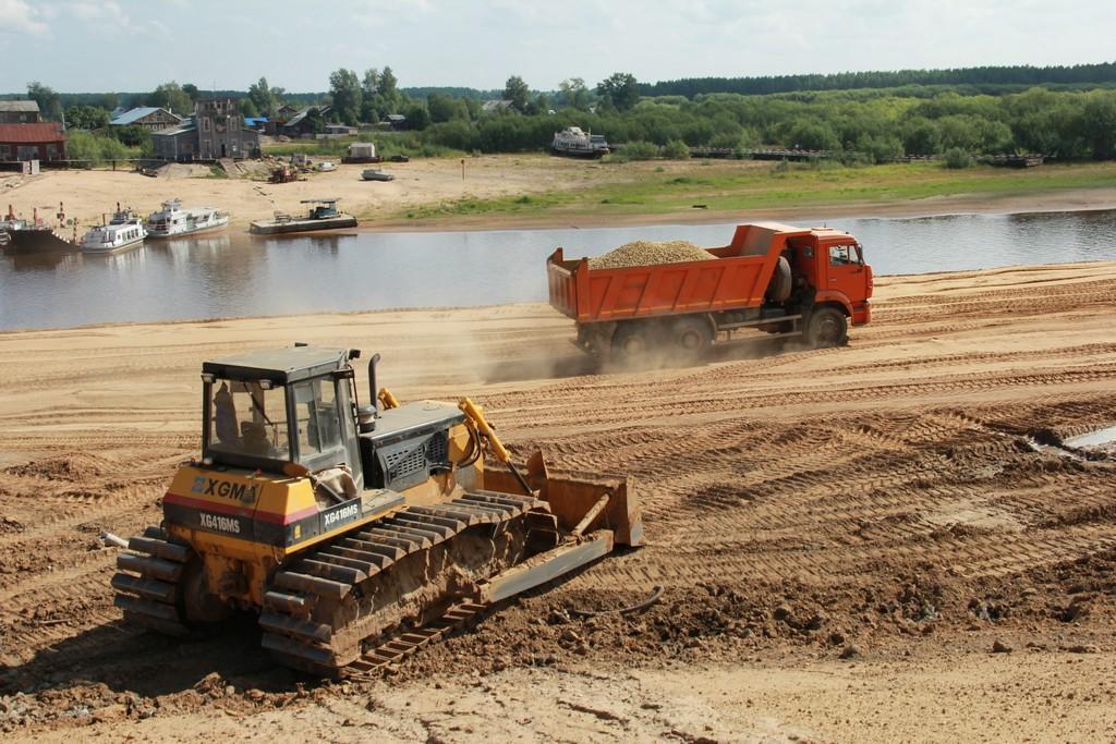 Работы по берегоукреплению реки Сысолы