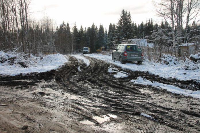 Дорога в Емвале. Фото ОНФ в Коми